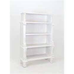 Wayborn 4 Shelf Bookcase in White