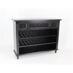 Wayborn Wine Rack Sideboard in Black