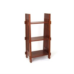 Wayborn 3 Shelf Bookcase in Brown