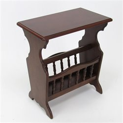 Wayborn Magazine Rack in Brown