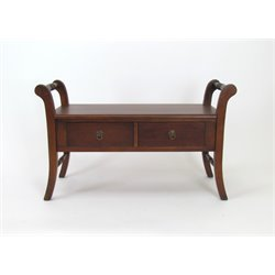 Wayborn 2 Drawer Bench in Brown