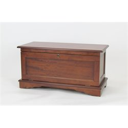 Wayborn Wooden Storage Bench in Brown