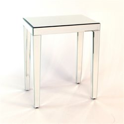 Wayborn Beveled Mirrored End Table in Mirror MC005-X