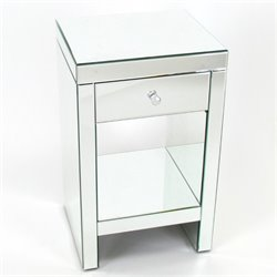 Wayborn Beveled Mirrored Chest Of One Drawer