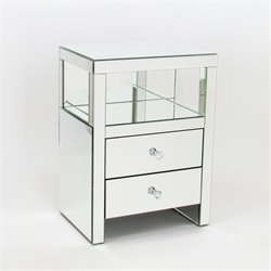 Wayborn Beveled Mirrored Nightstand