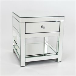 Wayborn Beveled Mirrored End Table