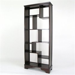 Basswood Vertical Shelves in Dark Brown