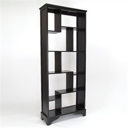Basswood Vertical Shelves in Black