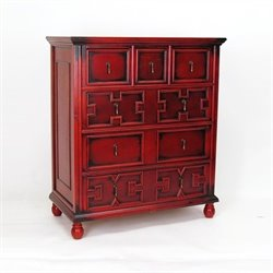 Wayborn The English Tall Accent Chest in Red