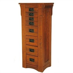 Birchwood Jewelry Storage in Oak