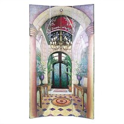 Hand Painted Ital Grand Foyer