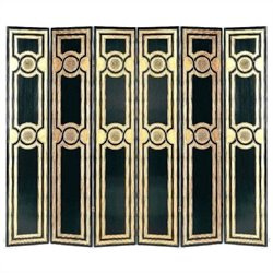 Room Divider in Black and Gold