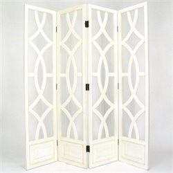 Room Divider in Whitewash