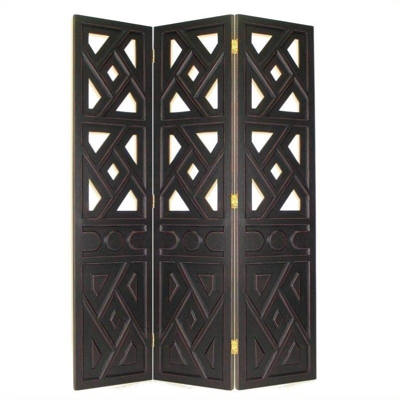 Room Divider in Antique Black