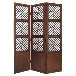Lattic Room Divider in Walnut