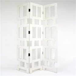 Abertson Room Divider in Whitewash