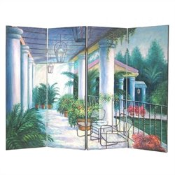 Hand Painted Patio Wall Room Divider