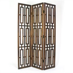 Chinese Oakwood Bookmark Room Divider in Brown