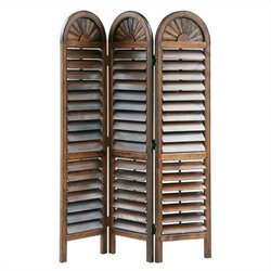 Chinese Oakwood Royal Venetian Room Divider in Brown