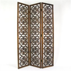 Chinese Oakwood Full House Room Divider in Brown