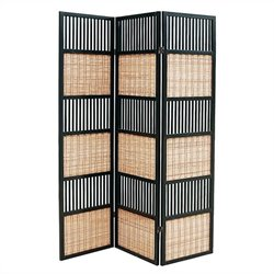 Room Divider in Black and Brown