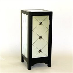 Mirror Accent Chest in Black