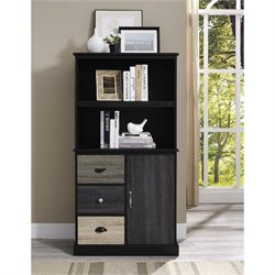Blackburn 2 Shelf Bookcase in Black