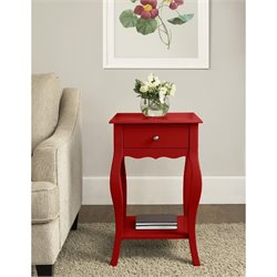Accent Table in Red