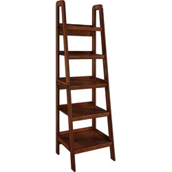 Ladder 5 Shelf Bookcase in Mahogany