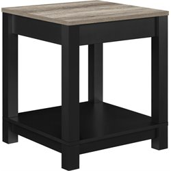 End Table in Black and Sonoma Oak
