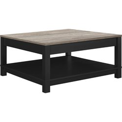 Square Coffee Table in Black and Sonoma Oak