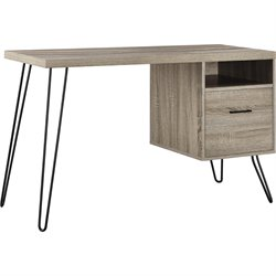 Writing Desk in Sonoma Oak and Gunmetal Gray