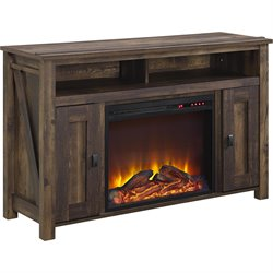 50'' Fireplace TV Stand in Heritage Pine