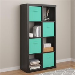 Hollow Core 8 Cubby Bookcase in Espresso