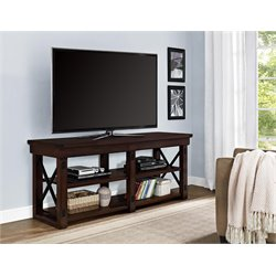 Wood Veneer 65'' TV Stand in Mahogany