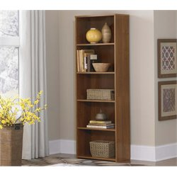 5 Shelf Bookcase in Medium Brown