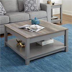Coffee Table in Gray and Sonoma Oak