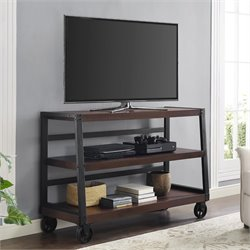 Wood Veneer 55'' TV Stand in Mahogany