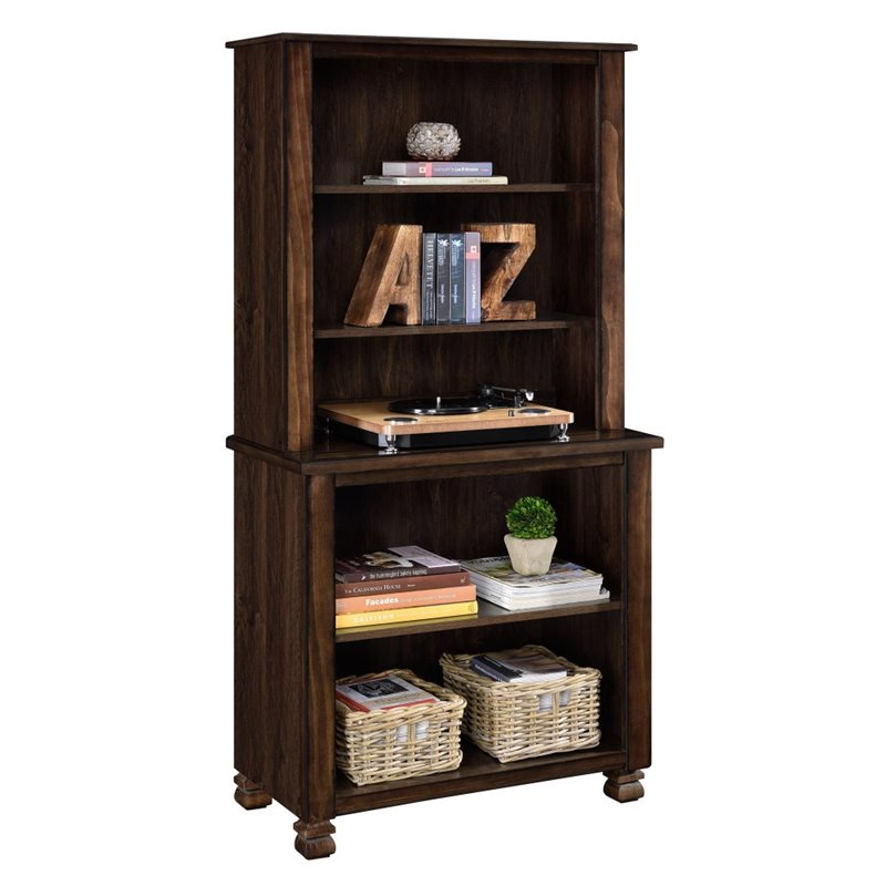 5 Shelf Bookcase In Espresso 9662196com