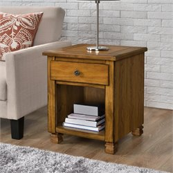 Wood Veneer End Table in Tuscany Oak