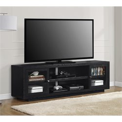 72'' TV Stand in Black Oak