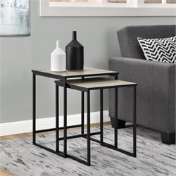 2 Piece Nesting Table Set in Sonoma Oak
