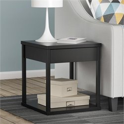Square End Table in Black