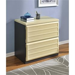 Altra Furniture Benjamin 2 Drawer File Cabinet in Natural and Gray