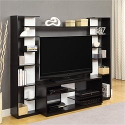 Altra Furniture Entertainment Center in Black and White Finish