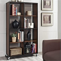 Mobile Bookcase and Room Divider in Cherry