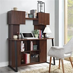 Empire Desk with Hutch in Cherry Finish