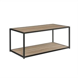Coffee Table with Metal Frame in Sonoma Oak