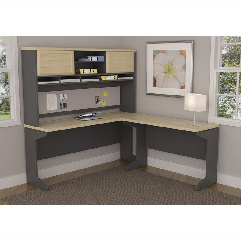 small corner desk for bedroom l shaped desk with hutch in and gray 9849096 19822