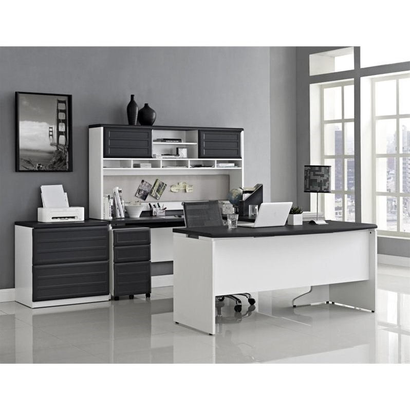 Small Office Set In White And Gray 9848296